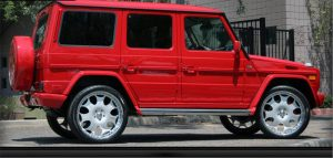 Gwagon Red Window Tinting Phoenix