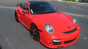 Porsche TT Red Auto Glass Replacement