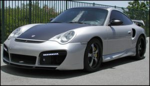Porsche TT Silver Mobile Detail and Tint