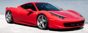 Red Ferrari 458 Mobile tinting and detailing